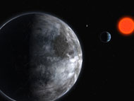 Artist's impression of the planetary system around the red dwarf Gliese 581. (Courtesy: ESO)