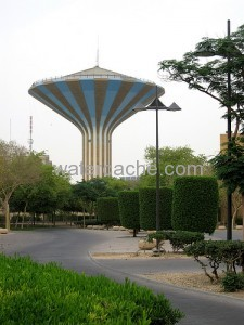 Water tower in Riyadh, Saudi Arabia