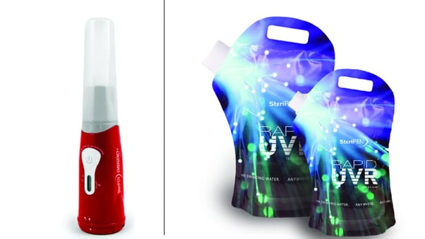 The SteriPen Emergency+ kit will come with both 2- and 4-L water containers