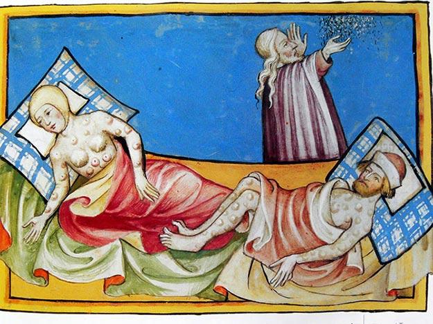 Иллюстрация Черной смерти, 1411 год: