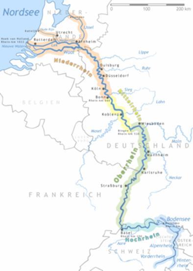 Схема бассейна реки Рейн